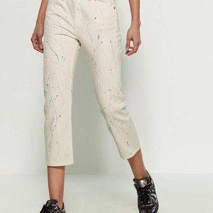 NWT Rag & Bone Paint Splatter Boyfriend Jeans